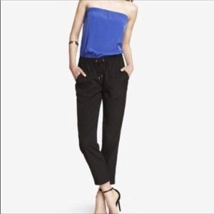 Express Blue and Black jumpsuit